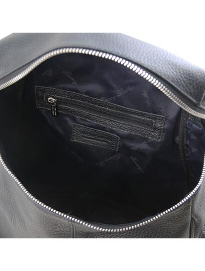 Rucsac dama negru din piele naturala Tuscany Leather