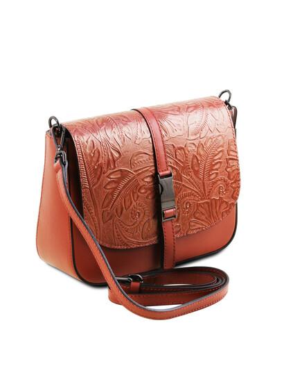 Geanta dama de umar brandy Tuscany Leather, din piele naturala Nausica
