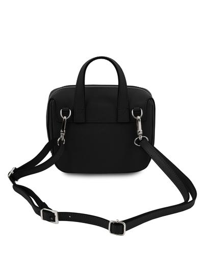 Geanta mica neagra din piele naturala Tuscany Leather, Dalia