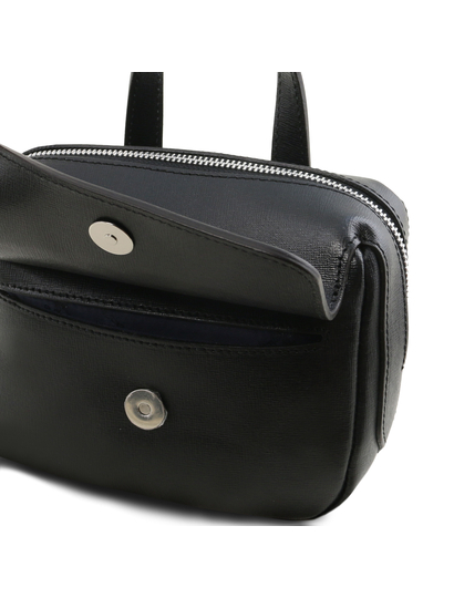 Geanta neagra din piele naturala Tuscany Leather, Dalia
