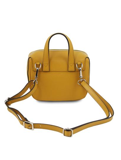 Geanta dama galben mustar din piele naturala Tuscany Leather, Dalia