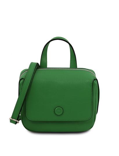 Geanta mica dama din piele naturala Tuscany Leather, verde, Dalia