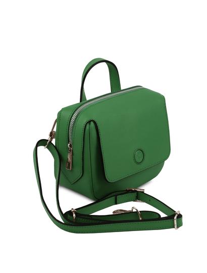 Geanta verde dama din piele naturala Tuscany Leather, Dalia