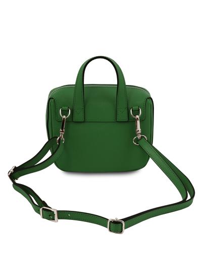 Geanta verde din piele naturala Tuscany Leather, Dalia