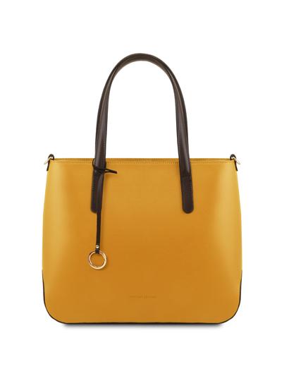 Geanta galben mustar dama din piele naturala, Tuscany Leather, Penelope