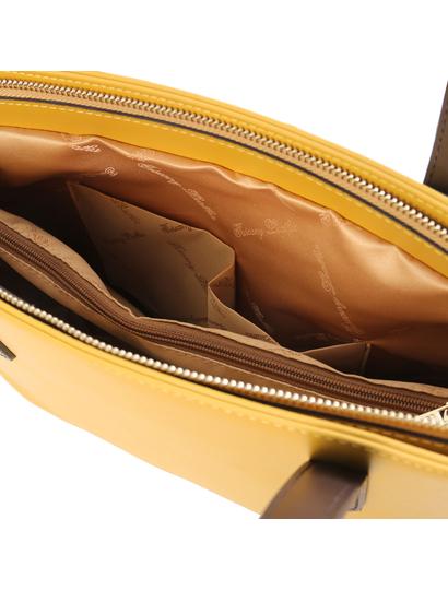 Geanta dama piele galbena, Tuscany Leather, Penelope