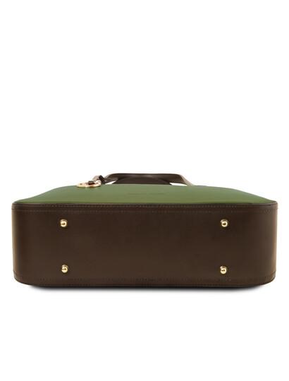 Geanta dama verde masliniu din piele naturala, Tuscany Leather, Penelope