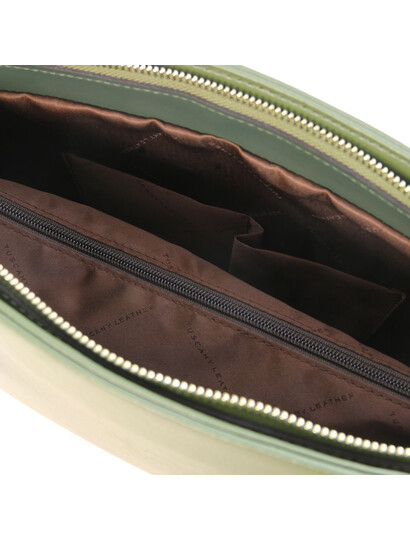 Geanta verde dama din piele naturala, Tuscany Leather, Penelope
