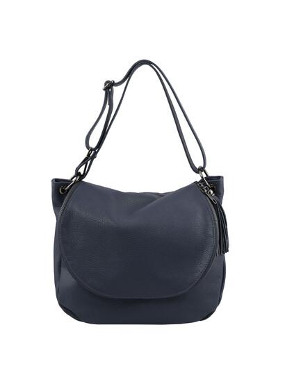 Geanta dama din piele naturala albastru inchis Tuscany Leather, TL Bag