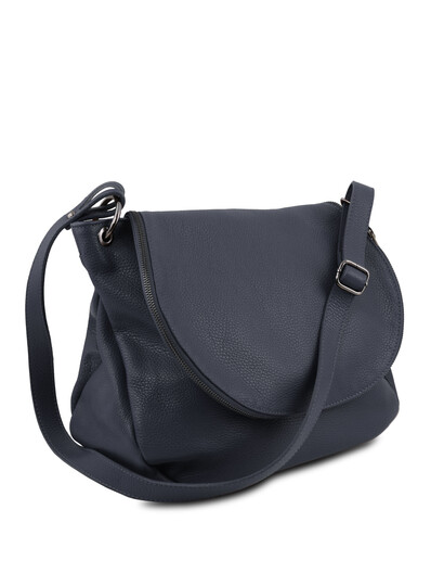 Geanta dama albastru inchis din piele naturala Tuscany Leather, TL Bag