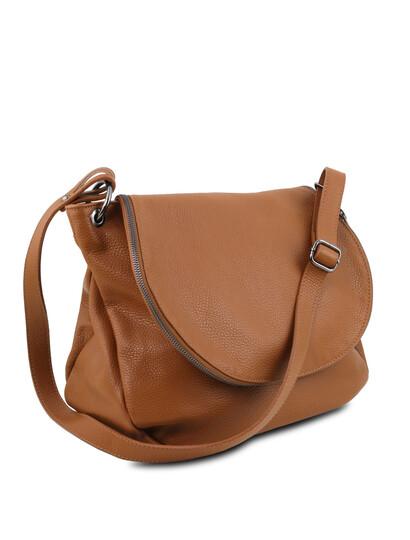 Geanta coniac dama din piele naturala Tuscany Leather, TL Bag