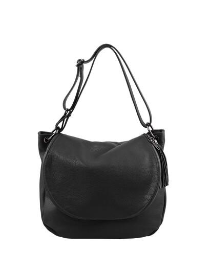 Geanta neagra dama din piele naturala Tuscany Leather, TL Bag