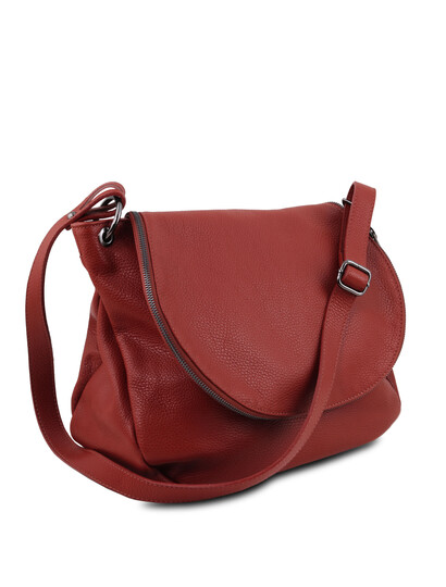 Geanta rosie din piele naturala Tuscany Leather, TL Bag