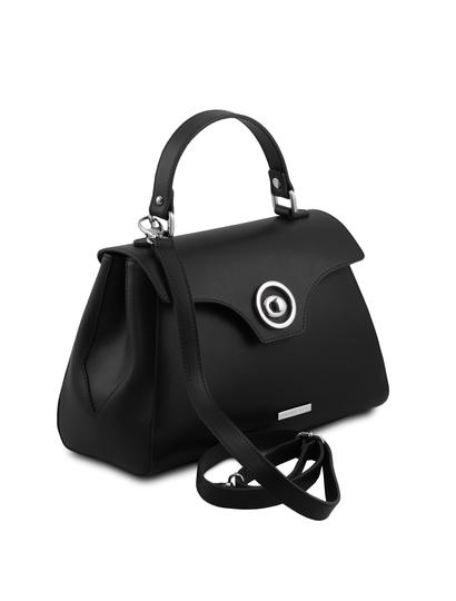 Geanta piele neagra de dama Tuscany Leather, TL Bag