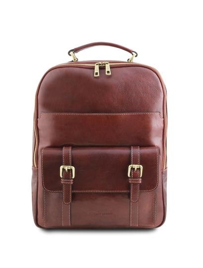 Rucsac laptop din piele naturala maro, Tuscany Leather, Nagoya