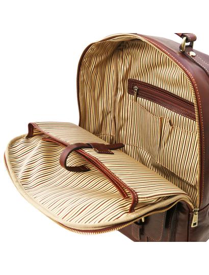 Rucsac laptop lux din piele naturala maro, Tuscany Leather, Nagoya