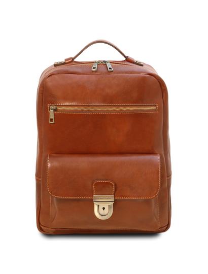 Rucsac laptop din piele naturala honey Tuscany Leather, Kyoto