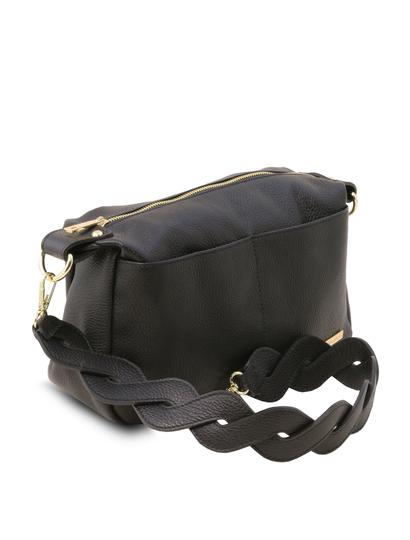 Geanta dama de umar Tuscany Leather din piele naturala neagra