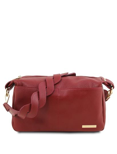 Geanta dama de umar Tuscany Leather din piele naturala rosie