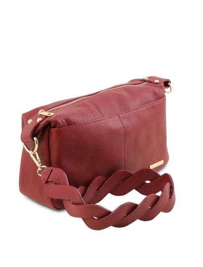 Geanta rosie dama de umar Tuscany Leather din piele naturala