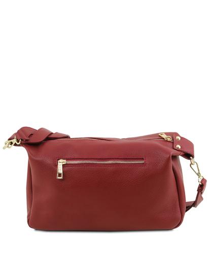 Geanta de firma dama de umar Tuscany Leather din piele naturala rosie