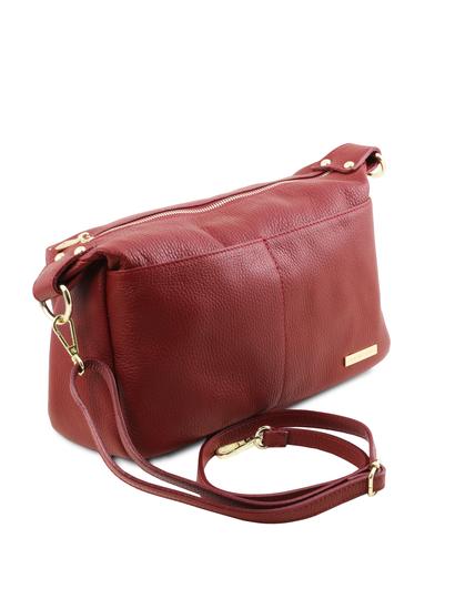 Geanta dama rosie Tuscany Leather din piele naturala