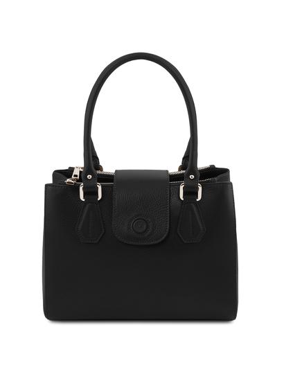 Geanta dama din piele naturala neagra, Tuscany Leather, Fiordaliso