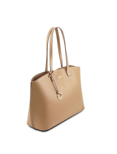Geanta shopper dama din piele naturala sampanie, Tuscany Leather, TL Bag