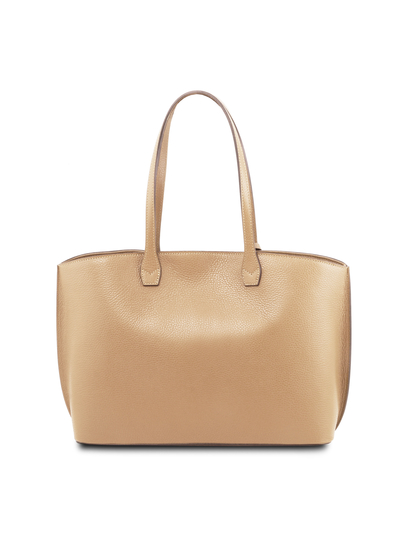 Geanta dama shopper din piele naturala sampanie, Tuscany Leather, TL Bag