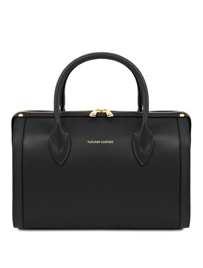 Geanta neagra dama din piele naturala Tuscany Leather, Elena