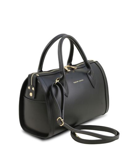 Geanta dama din piele naturala neagra Tuscany Leather, Elena