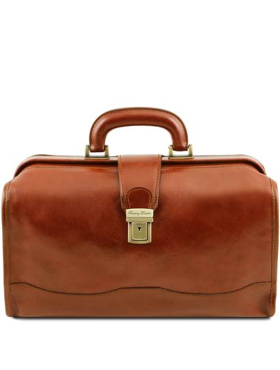 Geanta doctor din piele naturala Tuscany Leather, honey, Raffaello