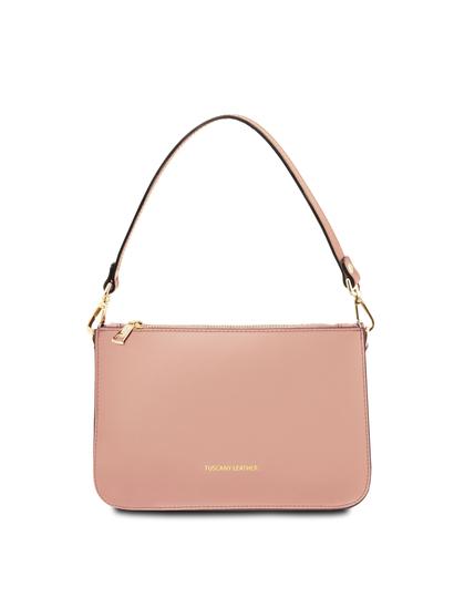 Plic dama roz pal din piele naturala, Tuscany Leather, Cassandra