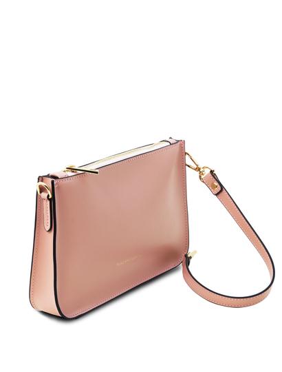 Plic roz dama din piele naturala, Tuscany Leather, Cassandra