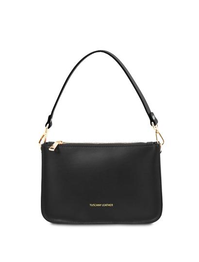 Plic negru dama din piele naturala, Tuscany Leather, Cassandra