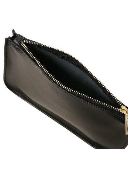 Plic negru din piele naturala, Tuscany Leather, Cassandra