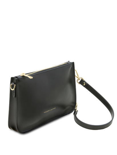 Plic dama negru din piele naturala, Tuscany Leather, Cassandra