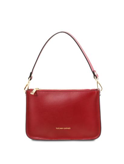 Plic dama rosu din piele naturala, Tuscany Leather, Cassandra
