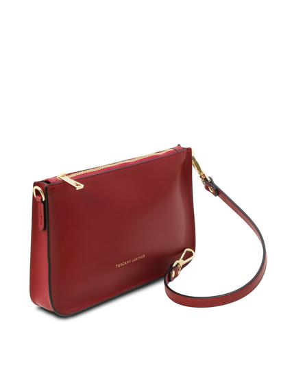 Plic rosu dama din piele naturala, Tuscany Leather, Cassandra