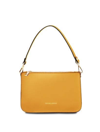 Plic dama galben mustar din piele naturala, Tuscany Leather, Cassandra