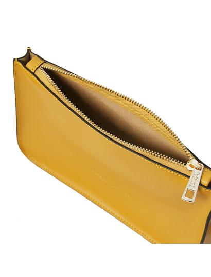 Plic piele galben mustar Tuscany Leather, Cassandra