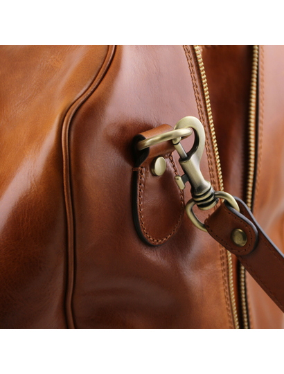 Geanta din piele honey, Tuscany Leather,  Voyager Travel