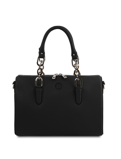 Geanta dama din piele naturala neagra Tuscany Leather, Narciso