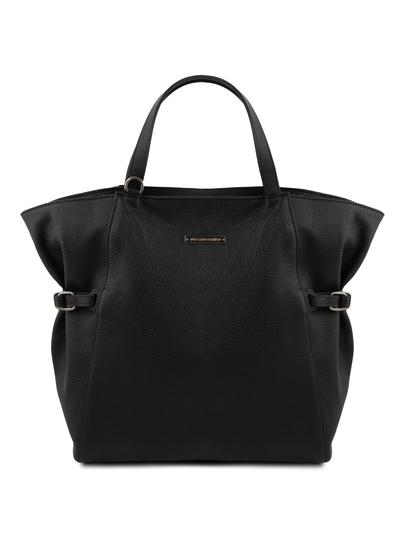 Geanta dama din piele naturala neagra, Tuscany Leather, TL Bag
