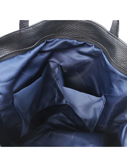 Geanta piele naturala neagra, Tuscany Leather, TL Bag