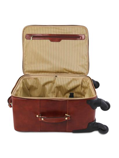 Troler din piele naturala maro, Tuscany Leather, Voyager