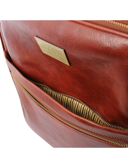 Troler din piele naturala maro, Tuscany Leather, TL Voyager