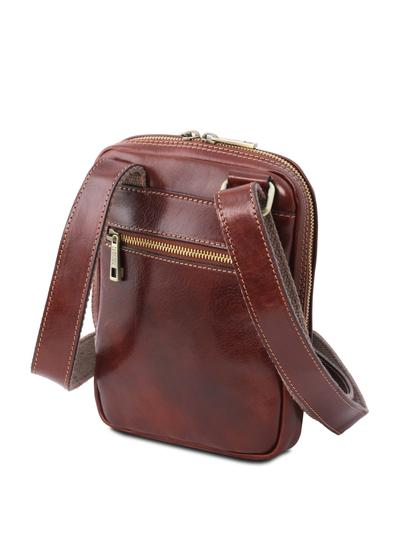 Geanta de firma barbati din piele naturala maro, Tuscany Leather, Mark
