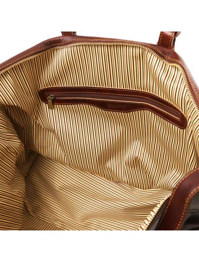 Geanta de voiaj piele naturala maro, Tuscany Leather, Porto
