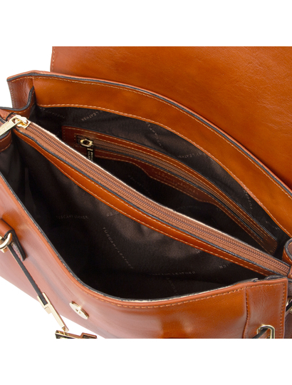 Geanta de mana Tuscany Leather din piele naturala honey, Neoclassic